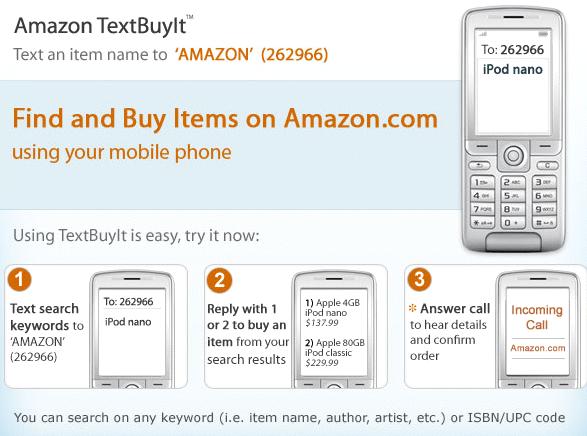 Amazon's TextBuyIt application
