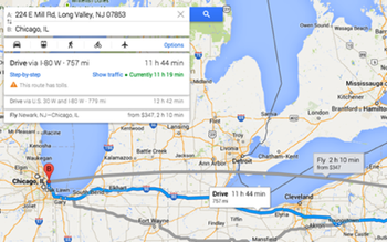 Google maps flight search small